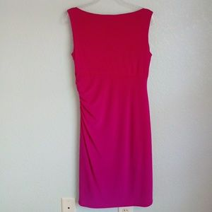 Evan Picone Dresses - EVAN PICONE | Fushia Pink Sleeveless Dress